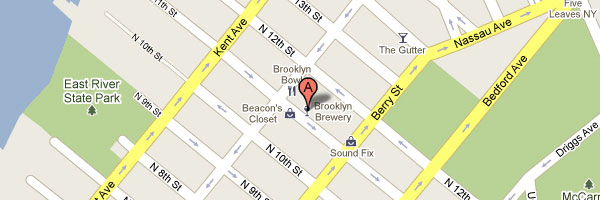 Map of the Brooklyn Brewery