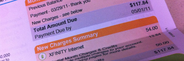 Comcast Cable & Internet Service: Billing Issues Resolved