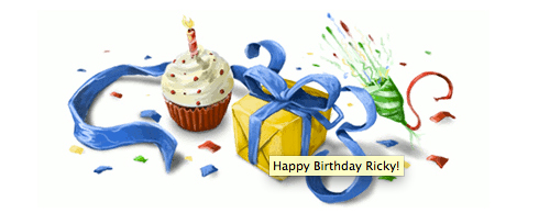 Happy Birthday Ricky... from Google