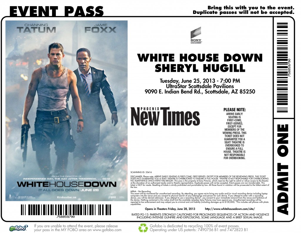 White House Down at UltraStar Cinemas