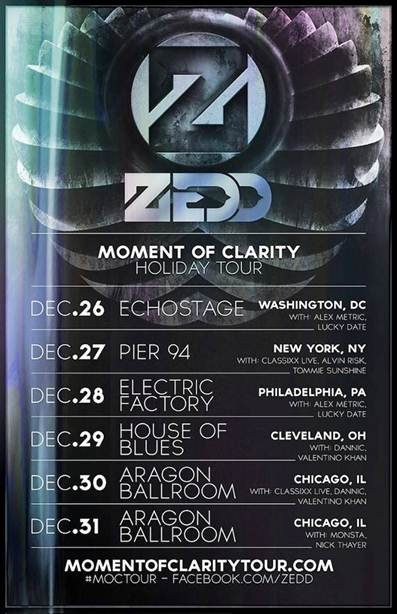Zedd adds dates to the Moment of Clarity tour
