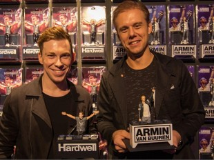 Hardwell and Armin Van Buuren immortalized with their own action figure