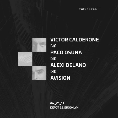 Teksupport Release Tickets for Victor Calderone, Paco Osuna, Alexi Delano, and Avision in Brooklyn, NY on April 1, 2017
