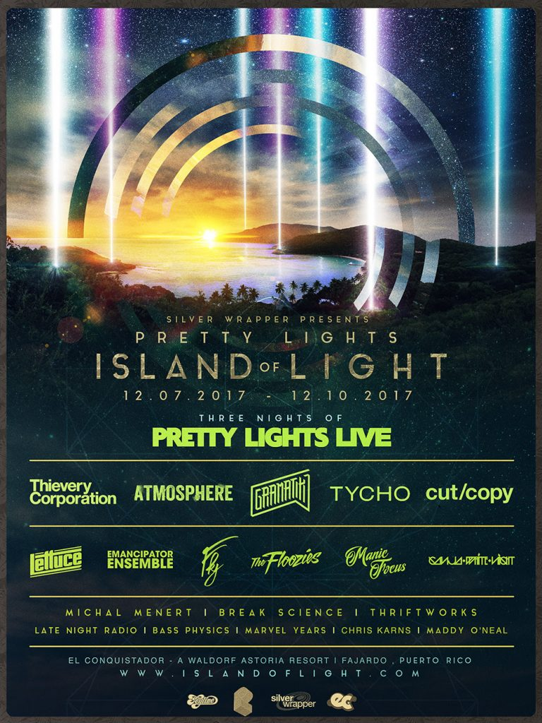 "Pretty Lights Announces Location and Lineup For ""Island of Light"""